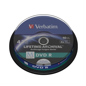 VERBATIM MDISC DVDR4X SPINDLE 4.7GB - PACK OF 10