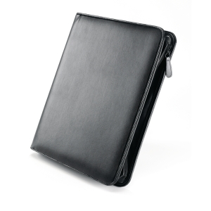 Falcon Leather Zip Conference Folder A4