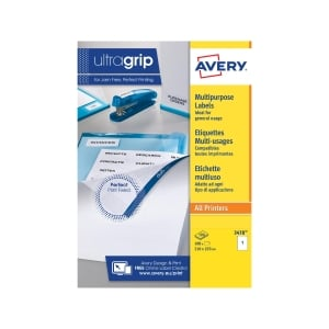 AVERY 3478 MULTI-FUNCTION/COPIER LABELS WITH SELVEDGE 210 X 297MM - BOX OF 100