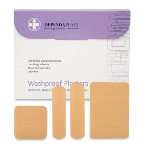 PLASTERS WATERPROOF ASSORTED SIZES (PACK OF 100)