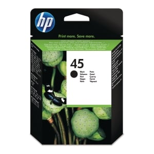 HP 45 Large Black Original Ink Cartridge (51645AE)
