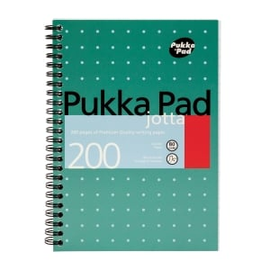 PUKKA WHITE A5 WIREBOUND PADS (RULED/MARGIN) - PACK OF 5 (5 X 100 SHEETS)