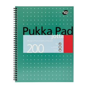 PUKKA WHITE A4 WIREBOUND PADS (RULED/MARGIN) - PACK OF 5 (5 X 200 SHEETS)
