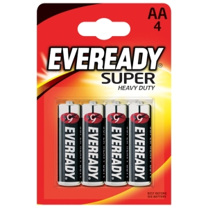 PK4 EVEREADY SUPER DUTY BATTERY AA
