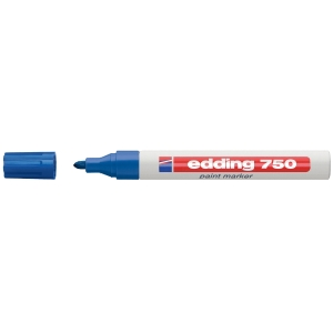 EDDING 750 BLUE BULLET TIP PAINT MARKER - BOX OF 10