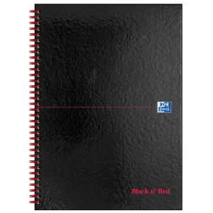 BLACK N  RED WHITE A4 WIREBOUND NOTEBOOK (RULED) NON-PERFORATED - 70 SHEET BOOK