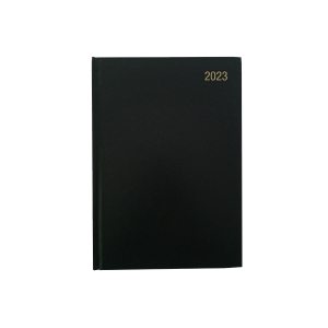 LYRECO PADDED A5 DIARY BLACK - PAGE A DAY