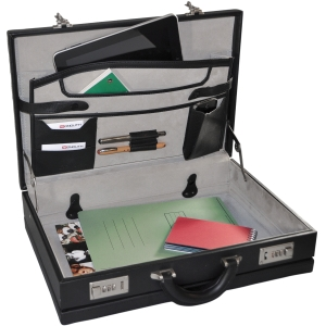 Monolith PVC Attache Case Black