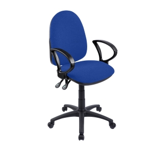 Origin High Back Operators Chair With Arms - Blue