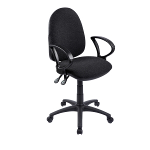 Origin High Back Operators Chair With Arms - Black