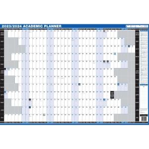 LYRECO UNMOUNTED ACADEMIC YEAR PLANNER - 909 x 610MM