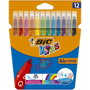Bic Kids Colour Medium Felt Pens - Pack of 12