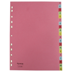 LYRECO BUDGET CARDBOARD DIVIDERS A-Z A4 ASSORTED