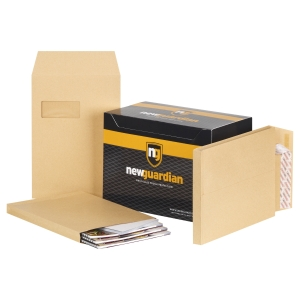 New Guardian 7366 Window Gusset Envelope Manilla 130gsm - Box of 100