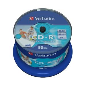 Verbatim Cd-R Spindle 700Mb Printable Bx50