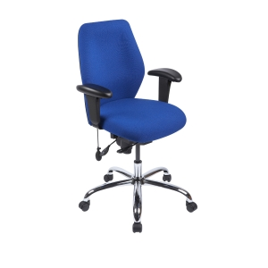 Physio Medium Back Ergo Task Chair Blue