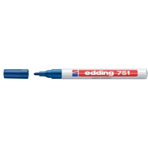 EDDING 751 BLUE BULLET TIP PAINT MARKER - BOX OF 10