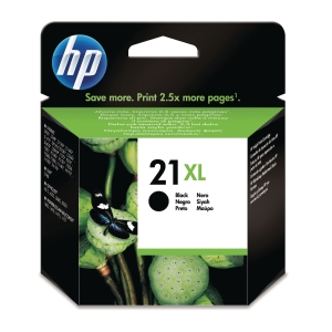 HP 21XL High Yield Black Original Ink Cartridge (C9351CE)
