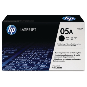 HP 05A Black Original LaserJet Toner Cartridge (CE505A)
