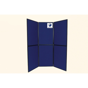 6-Panel Display Board Blue / Grey