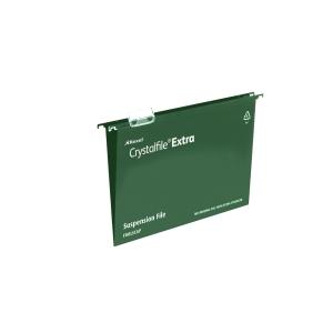 REXEL CRYSTALFILE GREEN A4 PP SUSPENSION FILES V BASE - BOX OF 25