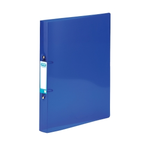 ELBA SNAP TRANSLUCENT BLUE A4 2 O-RING POLYPROPYLENE BINDER