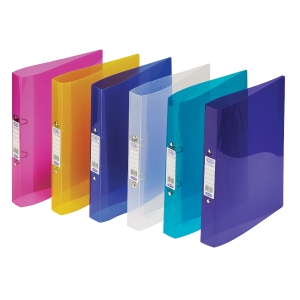 ELBA SNAP A4 40MM 2 O-RING POLYPROPYLENE RING BINDER, ASSORTED