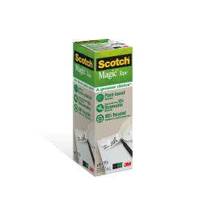 Scotch Magic Greener Choice Tape 19mm X 33M - Pack of 9