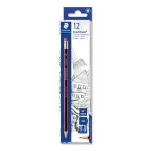 Staedtler 112 Tradition Pencil HB w/Eraser - Box Of 12