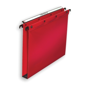 ELBA ULTIMATE RED FOOLSCAP HEAVY DUTY PP SUSPENSION FILES 30MM BASE - BOX OF 25