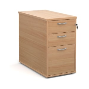 Desk High Pedestal 800mm Beech