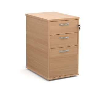 Desk High Pedestal 600mm Beech