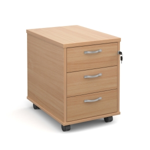 Mobile Pedestal 3 Drawer Beech