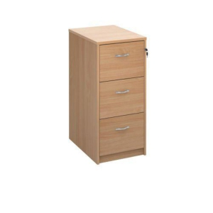 Wooden Filing Cabinet 3 Drawer Beech