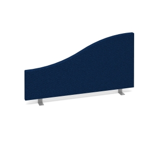 DESK MOUNTED ACOUSTIC SCREEN 500/350 X 800MM ROYAL BLUE