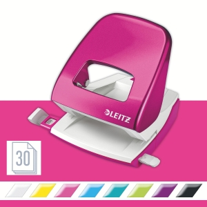 Leitz NeXXt Wow 5008 Series 30 Sheet 2 Hole Punch Pink