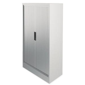 KONTRAX STEEL TAMBOUR CUPBOARD 1950M GREY