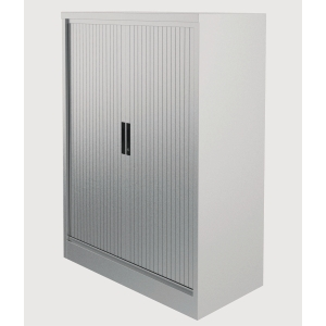 Kontrax Steel Tambour Cupboard 1M Grey