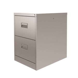 CONTRACT MIDI FILING CABINET 2 DRAWER GREY