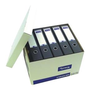 LYRECO WHITE EXTRA LARGE STORAGE BOX H290 X W355 X D430MM - BOX OF 10