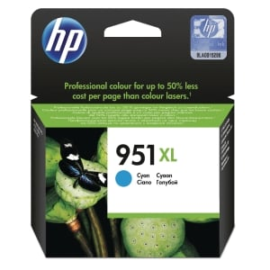HP 951XL High Yield Cyan Original Ink Cartridge (CN046AE)