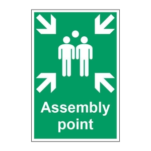 ASSEMBLY POINT SIGN 400 X 600MM VINYL