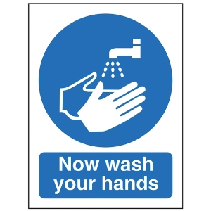 WASH HANDS SIGN 150 X 200MM PP