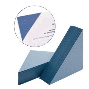 PACK OF 100 LEGAL CORNERS 315 GSM BLUE