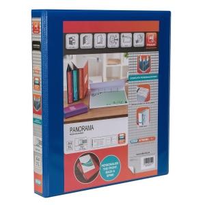 KREACOVER PP RING BINDER, 32X27.5CM, 4 D-RINGS, 47MM SPINE - BLUE