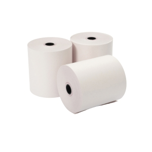 2 PLY ROLLS 76 X 76 X 12.7MM WHITE/PINK - BOX OF 20