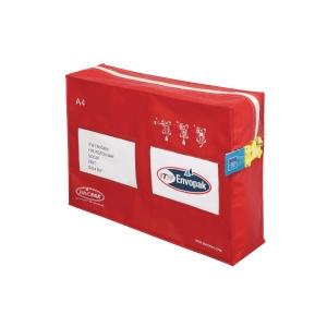 Envopak Reusable Mailing Pouch A4 Gusset Red