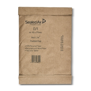 Mail Lite Padded Bags D1 181 X 273mm - Box of 100