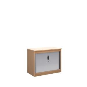 Wooden Tambour Cupboard 800mm High X 1020mm Wide X 550mm Deep