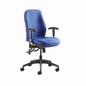 Re-Act Deluxe High Back Chair Blue Without Headrest
